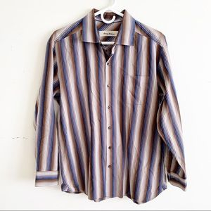 Tommy Bahama Long Sleeve Button Down Striped Shirt